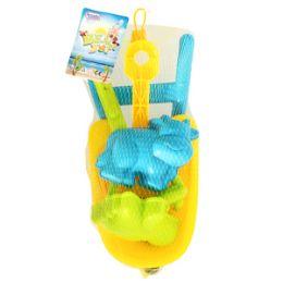 24 Bulk Wheelbarrow Sand Toys - 5 Piece Set