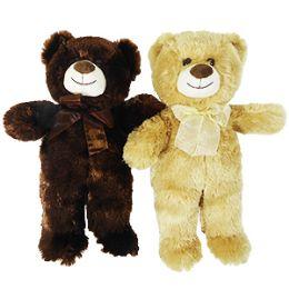 "24 Bulk 15"" Plush Natural Bear With Bow"
