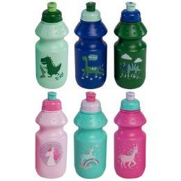 24 Bulk Sports Bottle Kids 12oz 2-12pc Pdq Per Master Dino/unicorn 6ast