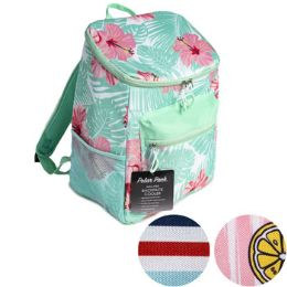 24 Bulk Cooler Back Pack Printed Insulated Assorted Polar Pack