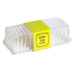 48 Bulk Butter Dish Clear With Lid 8 X 2-7/8 X 2-1/4 In Pdq
