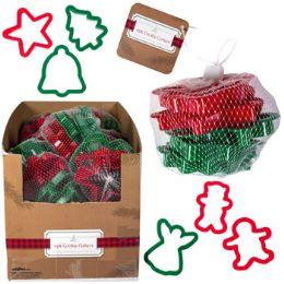 20 Bulk Cookie Cutter Christmas Plastic 6pk W/mesh Bag In 20pc Pdq
