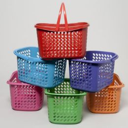 36 Bulk Basket With Folding Handles 4 Colors 289g In Pdq