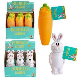 36 Bulk Bubbles Carrot/rabbit Shape 6.1 Oz Bottle 6pc Pdq Upc Label