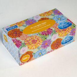 12 Bulk Facial Tissue 120ct Flat Box Assorted Prints Lucky