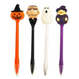 24 Bulk Light Up Scary Pens Pens With Display