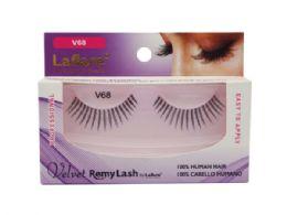 72 Bulk Laflare V68 100% Human Hair Velvet Remy Eyelashes