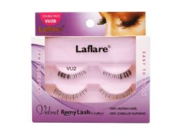 72 Bulk Laflare Vu2d 100% Human Hair Velvet Remy Double Under Lower Eyelashes