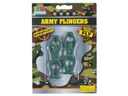 108 Bulk Green Army Men Flingers Set