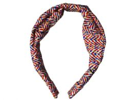 108 Bulk 1 Count Wide Head Band In Black And Red Assorted Colors