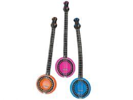 72 Bulk Colorful Inflatable Banjo