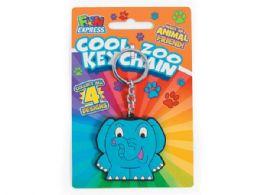144 Bulk Cool Zoo Animal Keychain In Assorted Animals