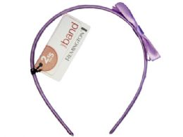 90 Bulk Solid Color Head Band With Bow In Assorted Colors