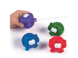 72 Bulk Emoji Squirt Ball Toy In Assorted Colors