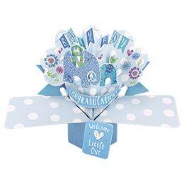 12 Bulk Congratulations Baby Pop Up Card -Boy