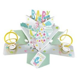 12 Bulk Baby Shower Pop Up Card -Stork