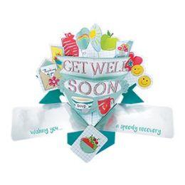 12 Bulk Get Well Soon Pop Up Card -Fruit