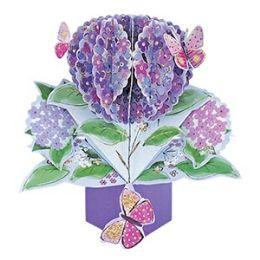 12 Bulk Hydrangeas Pop Up Card -Blank