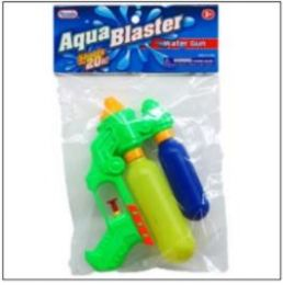 "48 Bulk 7.25"" 2-Tank Mini Water Gun In Poly Bag W/header, 3 Assrt"