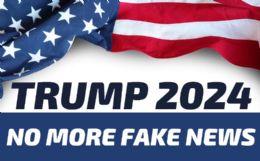 120 Bulk Trump 2024 NO MORE Fake News Bumper Stickers