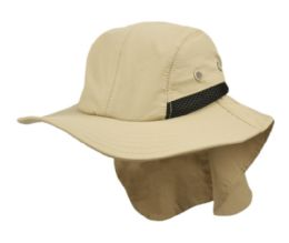 12 Bulk Outdoor Fishing Camping Cap W/neck Flap Cover