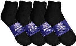 12 Bulk Yacht & Smith Womens Lightweight Cotton Sport Black Quarter Ankle Socks, Sock Size 9-11