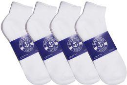12 Bulk Yacht & Smith Womens Lightweight Cotton Sport White Quarter Ankle Socks, Sock Size 9-11