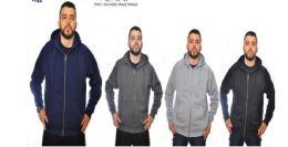 12 Bulk Men's Full Zip Heavy Weight Fleece