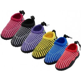 36 Bulk Toddlers Wave Sea Shell Print Comfortable Water Shoes