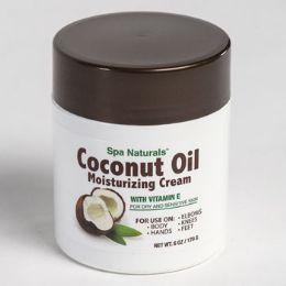 12 Bulk Coconut Oil Moisturizing Cream With Vitamin E 6 Oz Jar