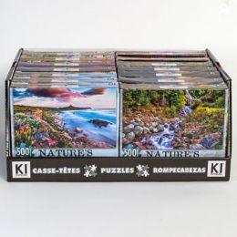 14 Bulk Puzzle 500pc Size 11x18.25 Asst Natures Beauty B In 14pc Pdq