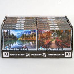 14 Bulk Puzzle 500pc Size 11x18.25 Asst Natures Beauty A In 14pc Pdq