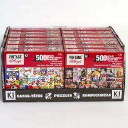 14 Bulk Puzzle 500pc Size 11x18.25 Asst Kelloggs In 14pc Pdq