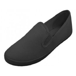 24 Bulk Slip On Twin Gore Upper Casual Canvas Shoes