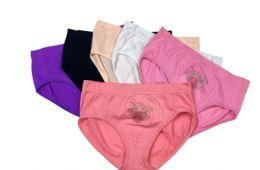 48 Bulk Ladies' Seamless Briefs With Rhinestone