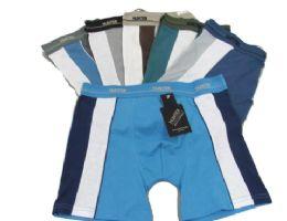48 Bulk Men's Cotton Boxer Briefs W/ Stripe