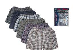 48 Bulk Men Woven Plus Boxer Shorts