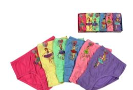 72 Bulk Girls Cotton Panty