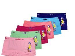 48 Bulk Girl's Seamless Boxers