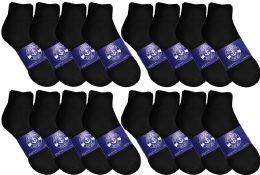 48 Bulk Yacht & Smith Womens Lightweight Cotton Quarter Ankle Socks In Bulk, Black Size 9-11
