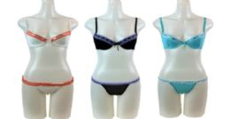 48 Bulk Ladies' Bra And Bikini Set With Hanger