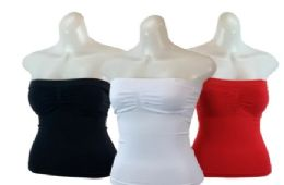 48 Bulk Ladies' Seamless Camisole With Padding