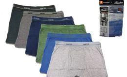 36 Bulk Men's Cotton Boxer Briefs Plus Size