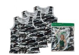 48 Bulk Ladies' Camouflage A-Shirt