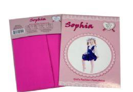 48 Bulk Girl's Pantyhose In Hot Pink Color