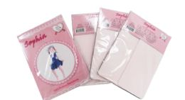 48 Bulk Girl's Pantyhose In Off Pink Color