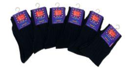 96 Bulk Boy's Nylon Dress Socks In Black