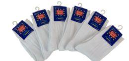 96 Bulk Boy's Nylon Dress Socks In White