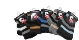 96 Bulk Boy's Imitation Wool Fingerless Glove