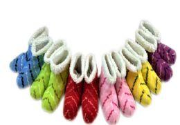 36 Bulk Ladies' Slipper Boots With Stripe Design One Size